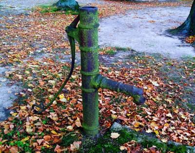 Alte Pumpe im Herbst