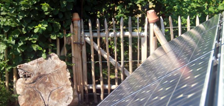 Solaranlage Garten